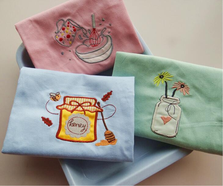 Free shipping Pure Cotton Placemat Pad With Embroidery font b Dining b font Table Mats Table