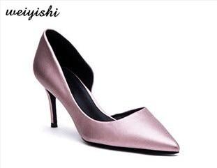 أزياء عارية الأحذية ، الصنادل الجلدية الحقيقي ، جلد حقيقي ، جلد البقر-في الكعب المتوسط من أحذية على  مجموعة 1