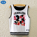 2017 New Summer Sexy Crop Top Flowers 33 Printed Loose Vest Female Women's Shirt Round neck SEA MAO