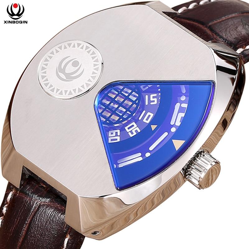 XINBOQIN Men Quartz Wristwatches Stainless Steel Water Resistant Watches Men's Fashion Casual Tonneau Wrist Watch 3037 fashionable water resistant glow in dark wrist watch black white 1 x lr626