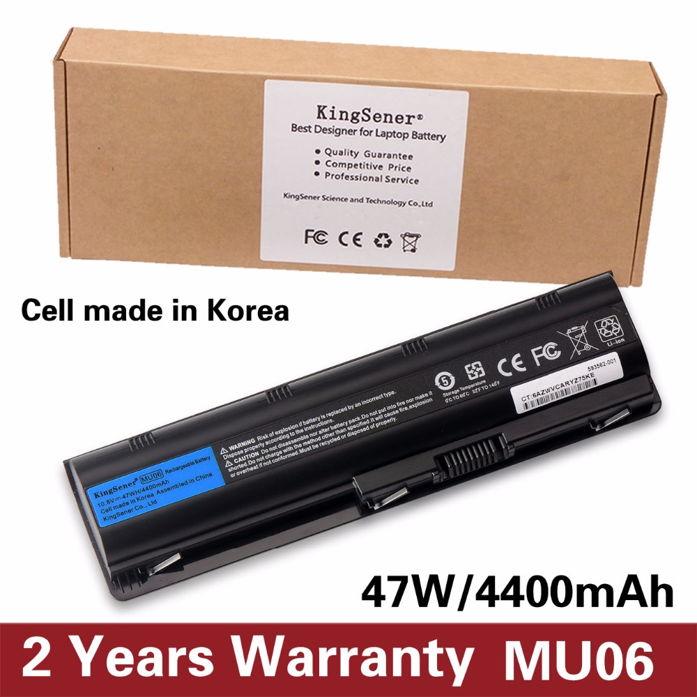 KingSener Korea Cell MU06 <font><b>Laptop</b></font> <font><b>Battery</b></font> for <font><b>HP</b></font> Pavilion G4 G6 G7 CQ42 CQ32 G42 CQ43 G32 <font><b>DV6</b></font> DM4 G72 593562-001 10.8V 47WH