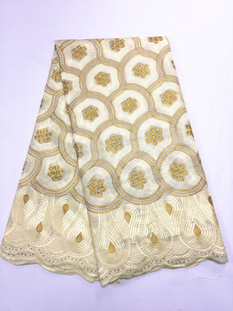 2017 New Design Voile African lace fabric Wholesale high quality African Swiss embroidery voile lace fabric with stones