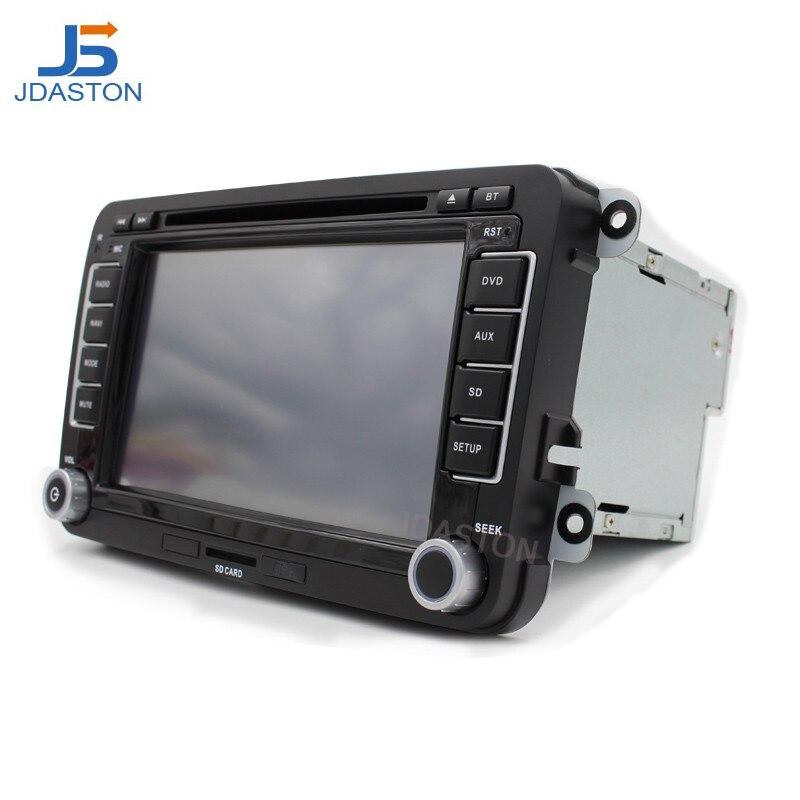 Lecteur multimédia de voiture JDASTON pour Volkswagen VW Passat B6 CC Polo Golf 4 5 Jetta Caddy T5 Bora Skoda Seat 2Din Radio voiture DVD GPS - 2
