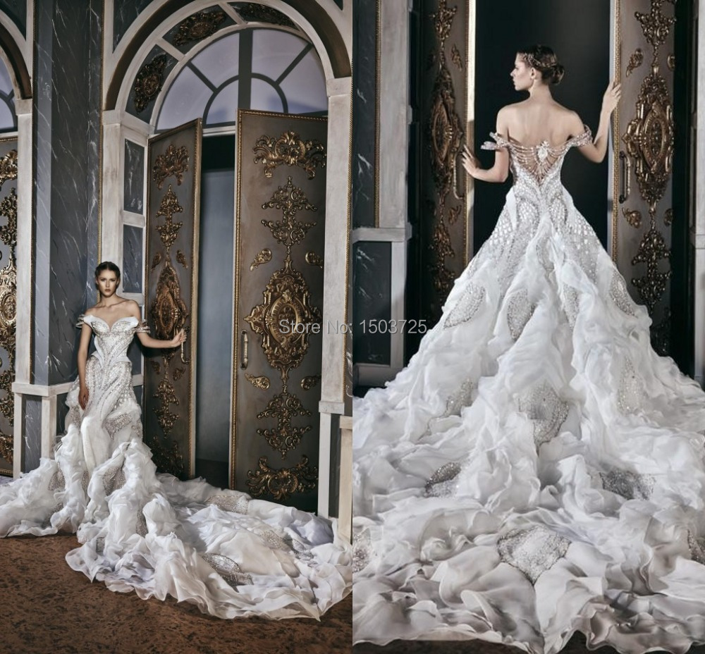 2015 Michael Cinco Dream Vintage Wedding Dresses Sweetheart Beading ...