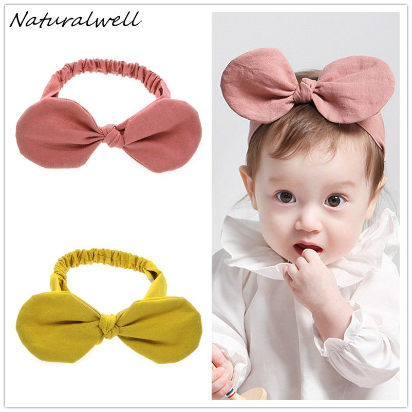Naturalwell Baby Girls Hair Accessories Minnie Mouse Ears Bow Headband Kids Hairband Party Hair band Wedding Headdress HB069