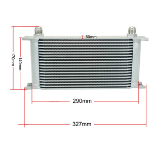 Image 3 - UNIVERSAL 19 ROWS OIL COOLER KIT +OIL FILTER SANDWICH + STAINLESS STEEL BRAIDED AN10 HOSE WITH PQY STICKER+BOX