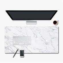 900 * 450mm Gaming Mouse Pad Marble Grain Anti-slip PU Leather Large Mousepad for Desktop Computer Home Office Mouse Mat Gamer 2 in 1 900 450mm double side large gaming mouse pad pu leather non slip mouse mat for dota 2 csgo office desk mousepad gamer