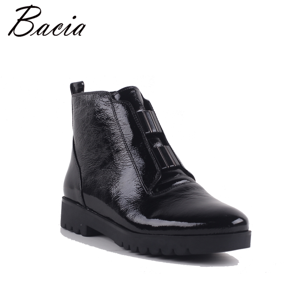Bacia/Женская мода из натуральной кожи ботильоны с пряжкой Feminino на платформе и низком каблуке удобные осенние и весенние туфли MC028