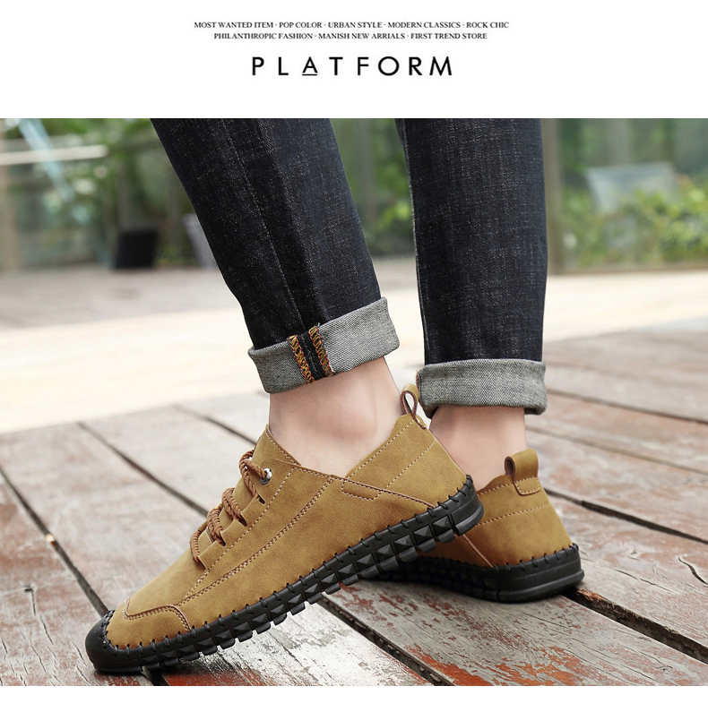 HTB1CJdgas vK1RkSmRyq6xwupXaJ - 2019 New Fashion Leather Spring Casual Shoes Men's Shoes Handmade Vintage Loafers Men Flats Hot Sale Moccasins Sneakers Big Size