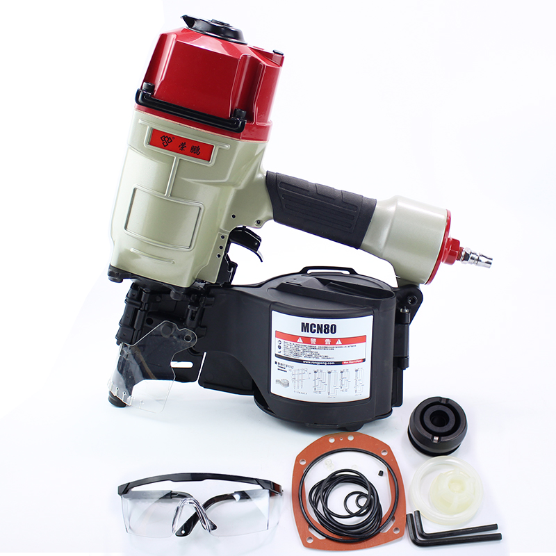Quality CN80 Industrial Pneumatic Coil Nailer Air Nailer Gun Pneumatic Nailing Gun Air Tool