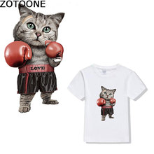 ZOTOONE iron on patch Cat punch cartoon heat transfer grade A offset clothes paste ironing stickers thermal press d