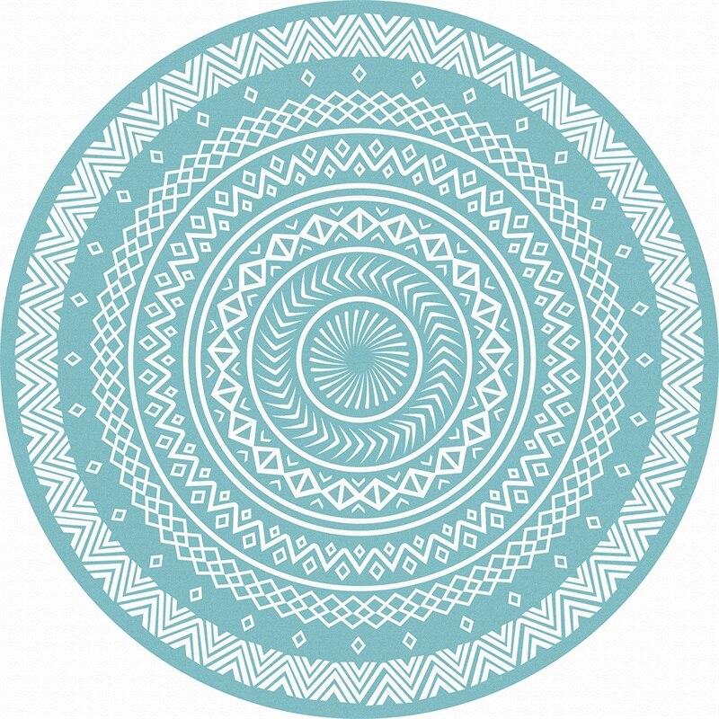 Fashion Pale Green Round Geometric Ethnic Medallion Soft