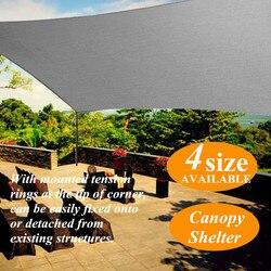 2x1.8/3/4/5m Grey Sun Shade Canopies Sails Outdoor Camping Hiking Yard Garden Shelters Sun Screen Cover Waterproof Cloth