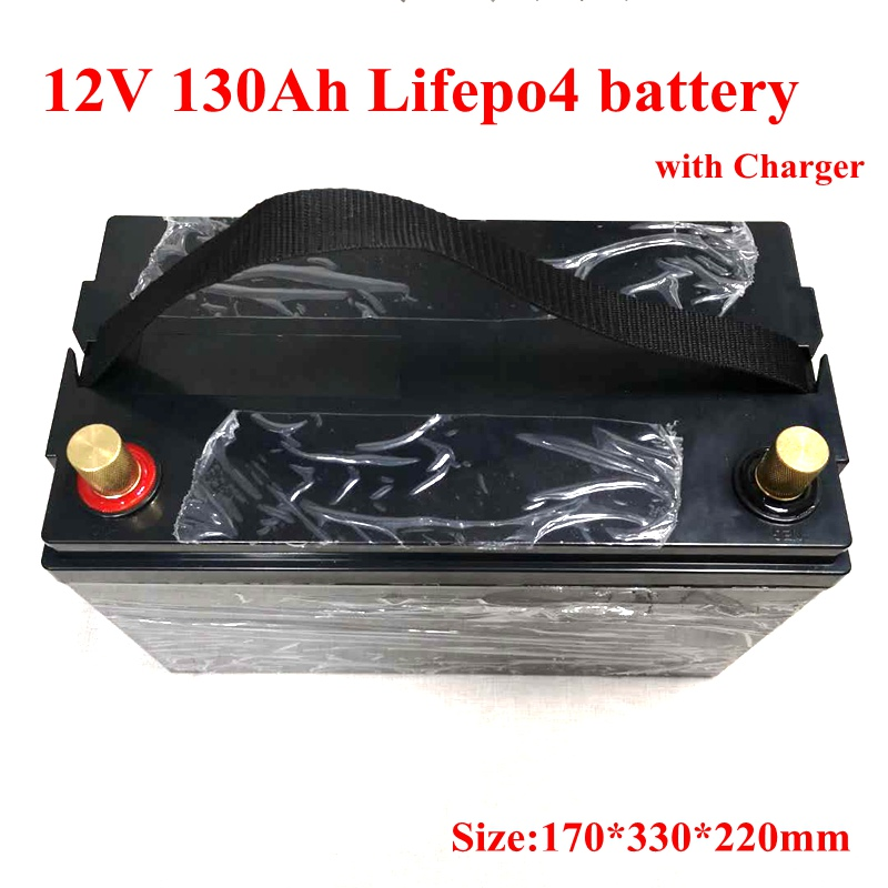 12V 130Ah 100Ah 150Ah LiFepo4 Lithium Battery Pack for Golf Cart RV Marine Motorhome Autocaravnas Energy
