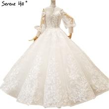 SERENE HILL White Sleeves Wedding Dresses 2019 Bridal Gowns