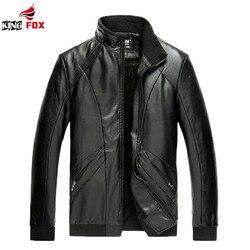 King fox fashion brand male leather jacket men plus velvet coats trend slim fit younth motorcycle.jpg 250x250