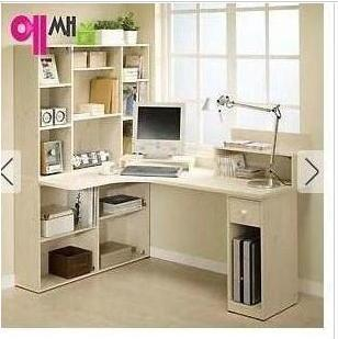 bureau hoek computer bureau combinatie boekenkast boekenrek desktop tabel desktop 25