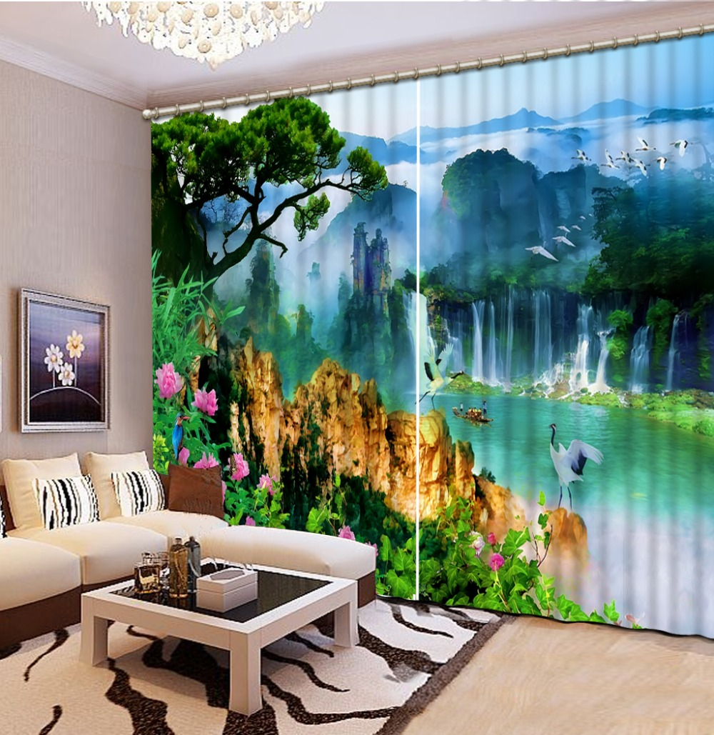 Beautiful scenery Curtain Decoration 3D Brief tree Curtains For Bedroom Living room Polyester Room CurtainBeautiful scenery Curtain Decoration 3D Brief tree Curtains For Bedroom Living room Polyester Room Curtain