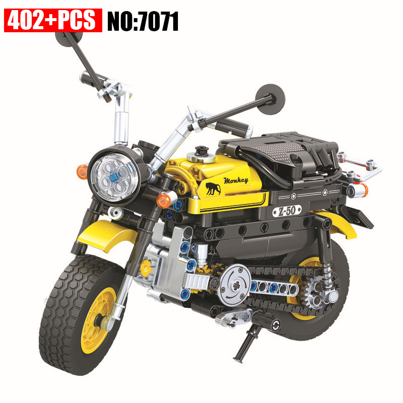 AIBOULLY 7071 402pcs Technic Mini Motorcycle Motorbike Building Block Brick Toys for Children aiboully 7061 550pcs technic motorbike motorcycle car bicycle building bricks blocks toys for children gift