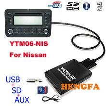 Yatour автомобиль цифровой музыки чейнджер usb aux mp3 адаптер для nissan/infiniti без 6 дисков cd yt-m06