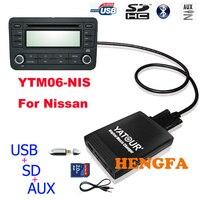 Yatour car digital music changer usb mp3 aux adattatore per nissan/infiniti senza cd 6 dischi yt-m06