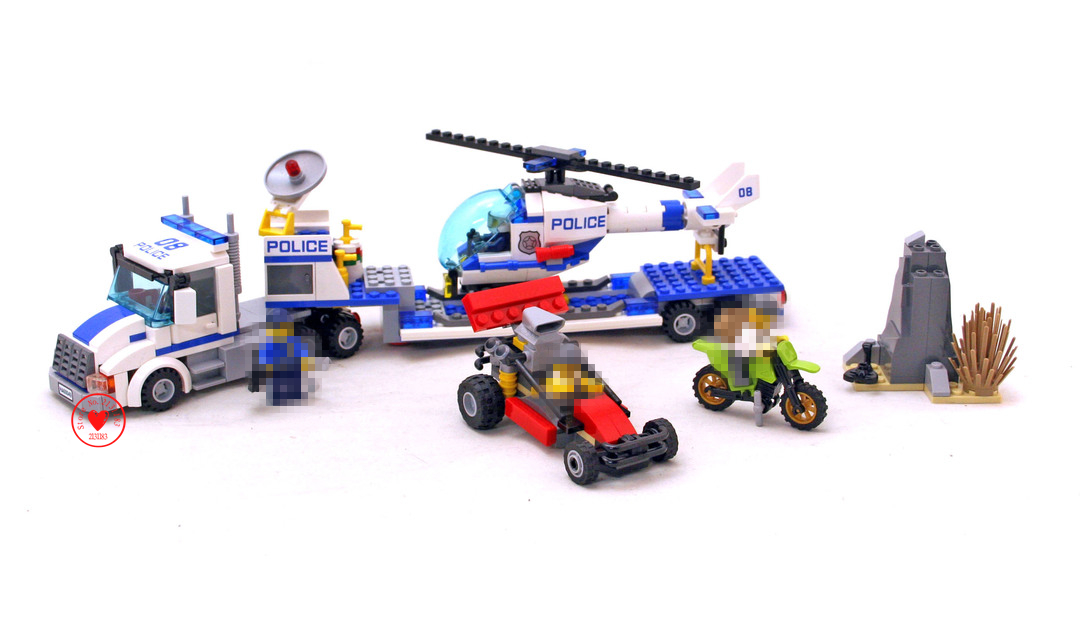 New 10422 Urban City Police Force Helicopter Truck model Building Block bricks boys game Toys fit 60049 City ...