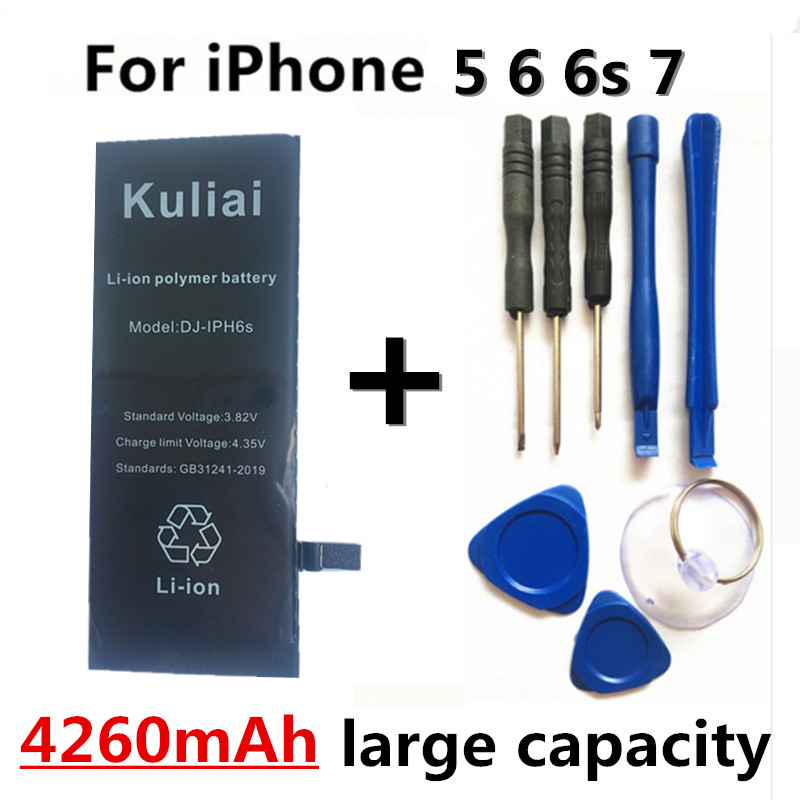 Image 3 - 4260MAh High capacity Lithium Battery For Apple iPhone 6S 8 7 6Sp 6p Replacement Batteries Internal Phone Bateria + Free Tools-in Mobile Phone Batteries from Cellphones & Telecommunications