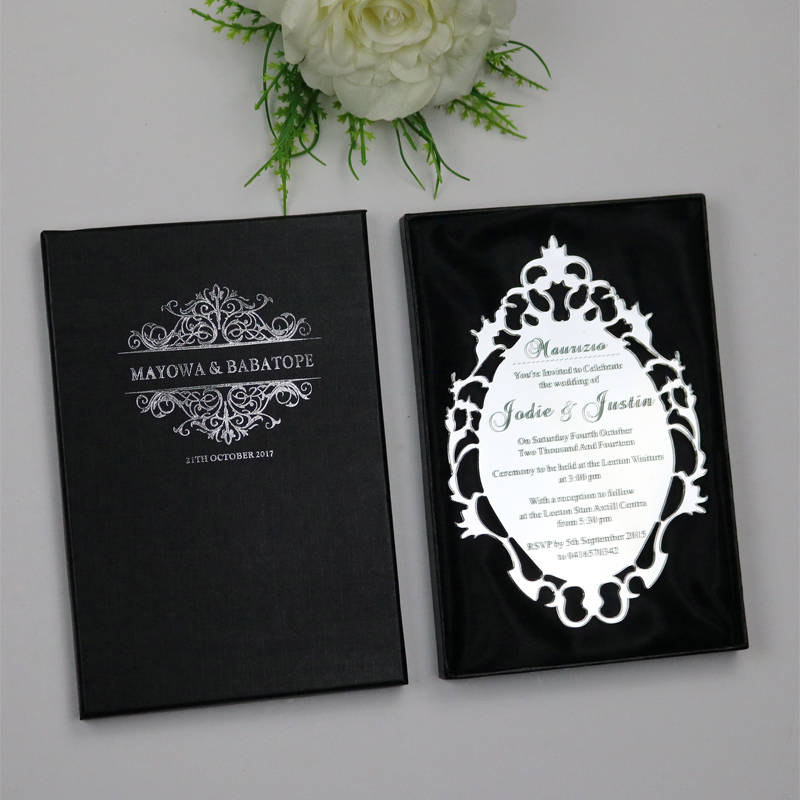 sample personalized luxury customized acrylic wedding