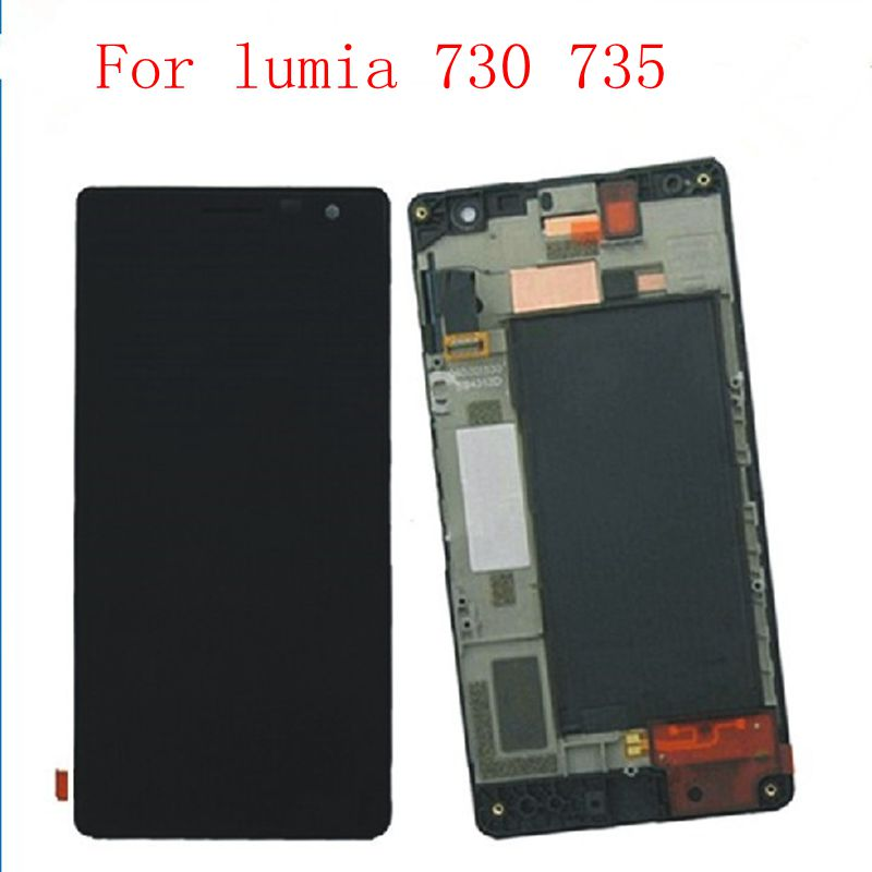 4.7 For lumia730 RM-1039 1038 Lcd display+touch glass digitizer Frame Full assembly for Nokia lumia 730 735 replacement screen4.7 For lumia730 RM-1039 1038 Lcd display+touch glass digitizer Frame Full assembly for Nokia lumia 730 735 replacement screen
