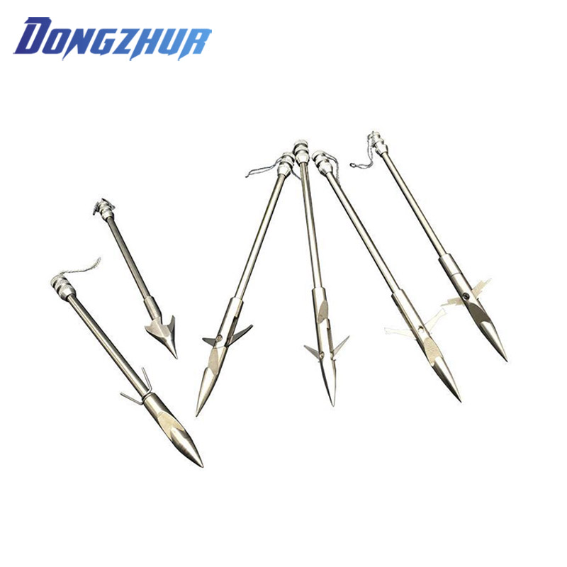 5.7inch Stainless Steel Broadheads Arrowhead Bow Fishing Slingshot Arrow Hunting Shooting Catapult Dart Box