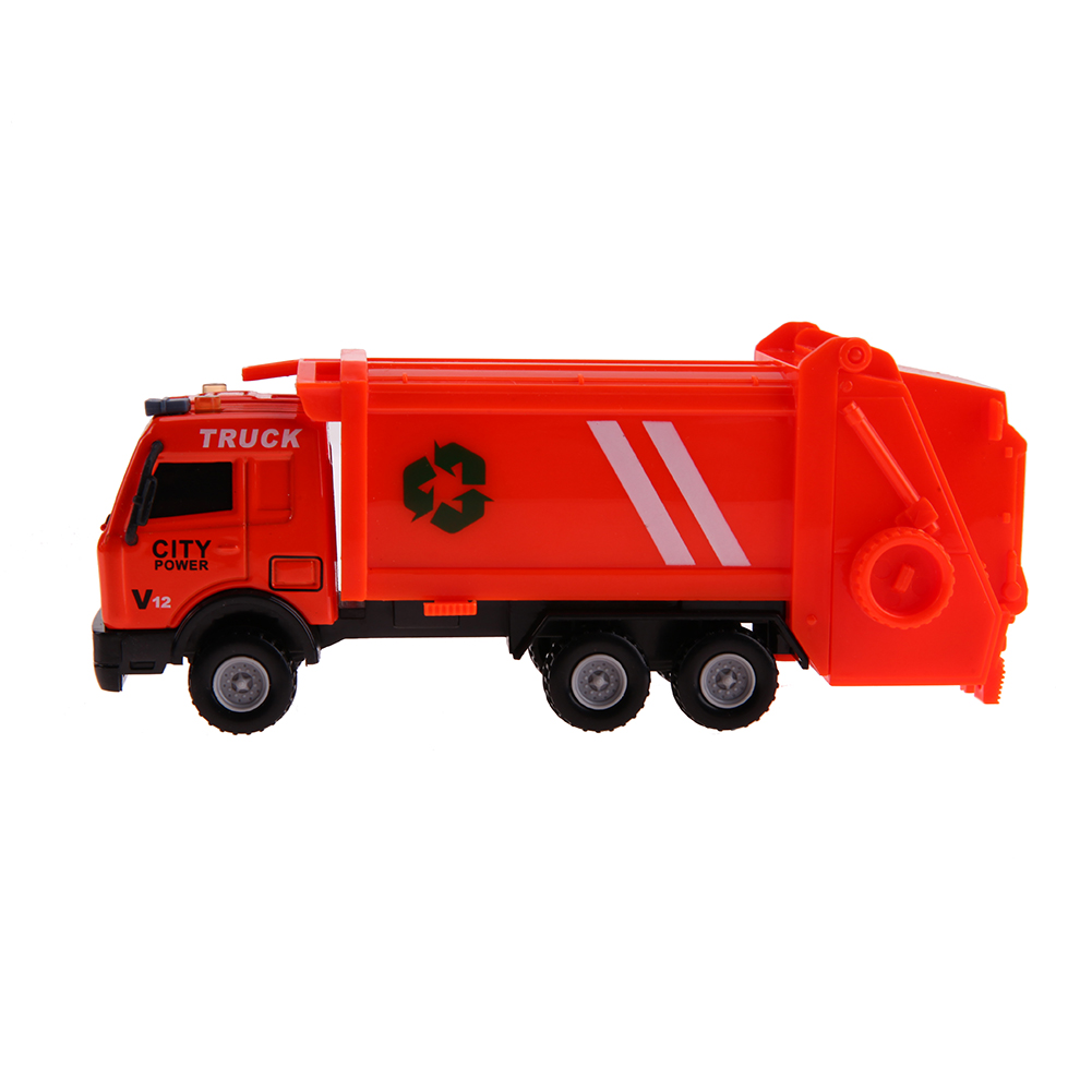 1: 43 Alloy Environmental Sanitation Garbage Truck Dumpers Truck Transport Vehicle Toy Model Gift for Children Toys