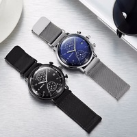 Fashion Simple Stylish Top Luxury Brand GIMTO Watches Men Stainless Steel Mesh Strap Quartz Watch Thin