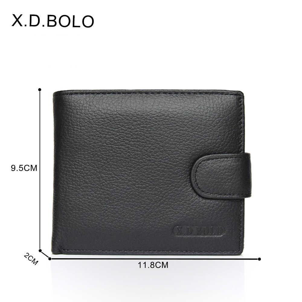X. D. BOLO кошелек мужской кожаный из натуральной коровьей кожи мужские кошельки с карманом для монет мужской кошелек кожаный кошелек мужские кошельки