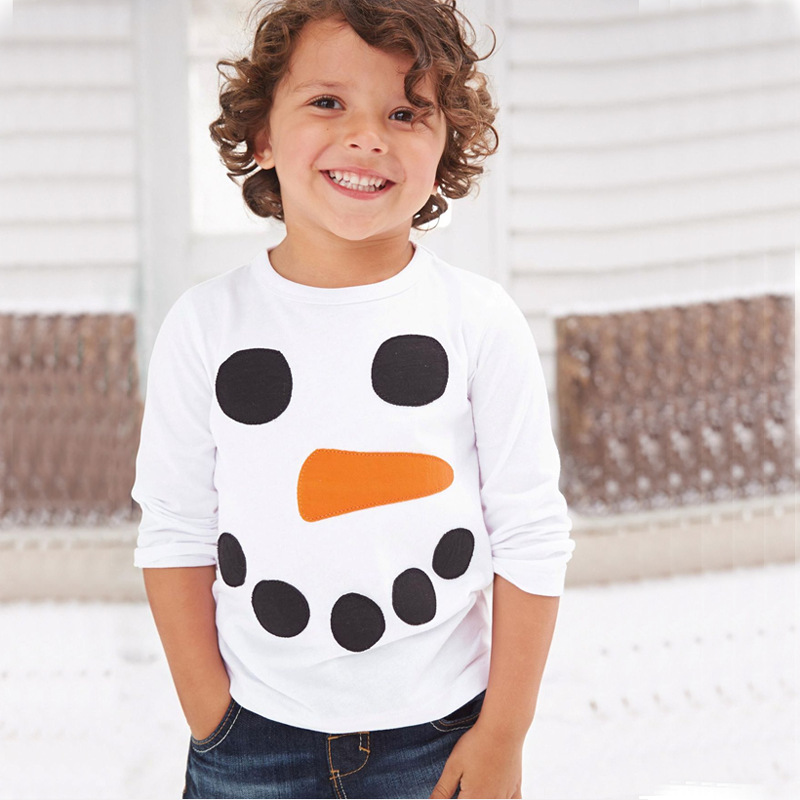 2016 New Snowman Christmas Kids Clothes Hot Fashion Boys T