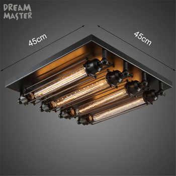 Black E27 Ceiling Light Loft Vintage Retro Ceiling Light Industrial Design lamp Edison Bulb Home Bar Cafe Shop Lighting Fixture