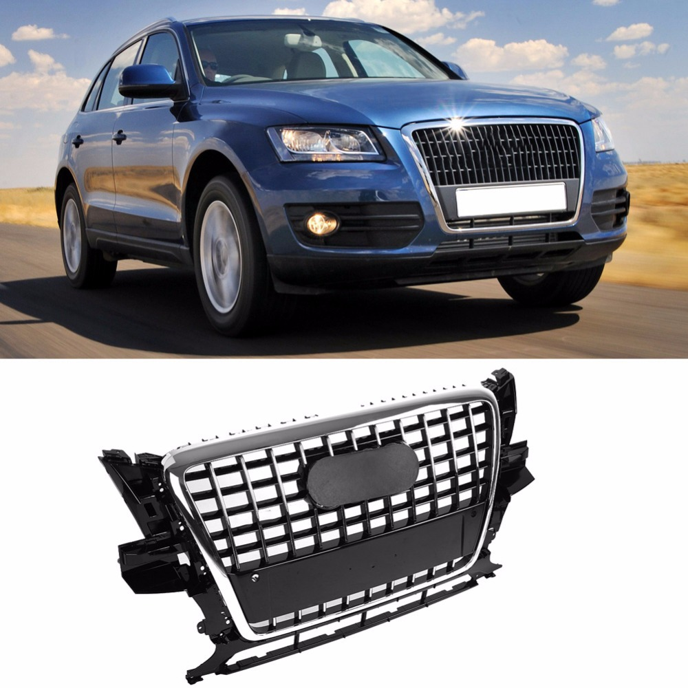 ABS Bumper Grill For SQ5 Style Front Bumper Mesh Hood Grill Grille Glossy Black Universal for