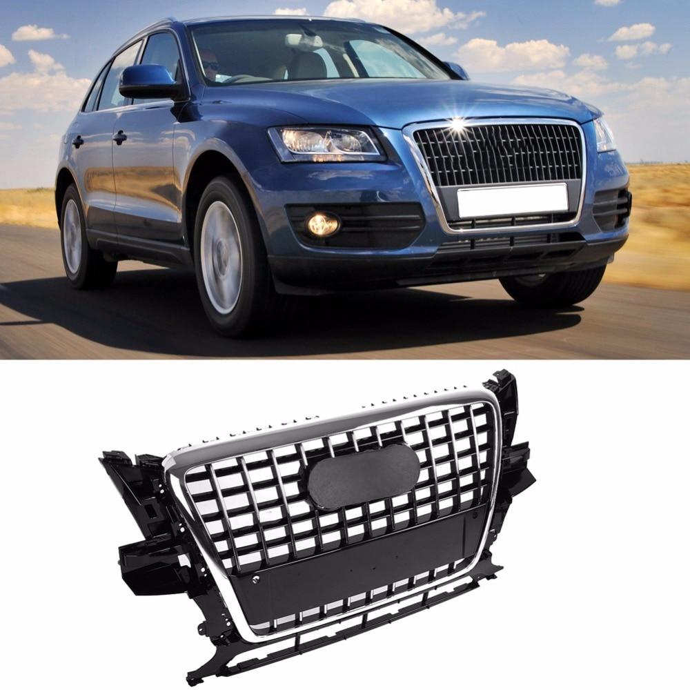 Grille de pare-chocs ABS pour SQ5 Style pare-chocs avant maille capot Grille de calandre noir brillant universel pour Audi Q5 2009 2010 2011 2012 nouveau