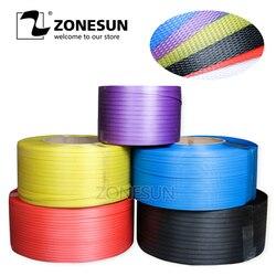 ZONESUN PP plastic belt PP packing belt binding belt Smooth embossed PP strap plastic strap poly strap manufacturer