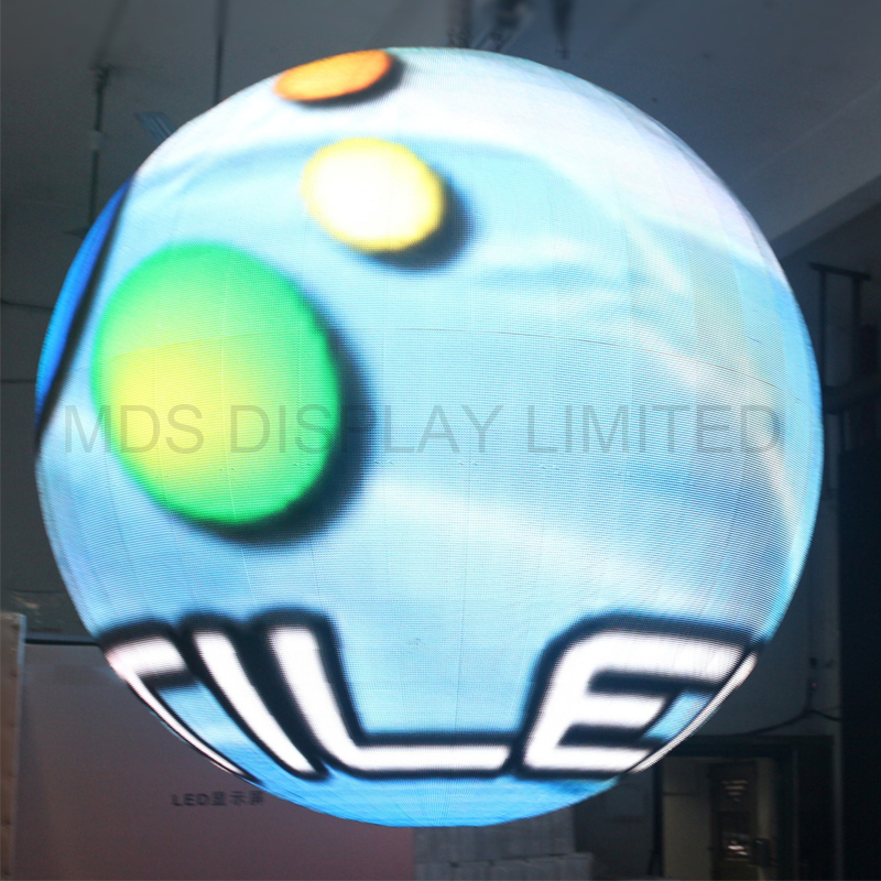HD High Resolution  4.8 Indoor Full Color SMD2121 Special Design Spherical Ball Led Display Circle Led Screen