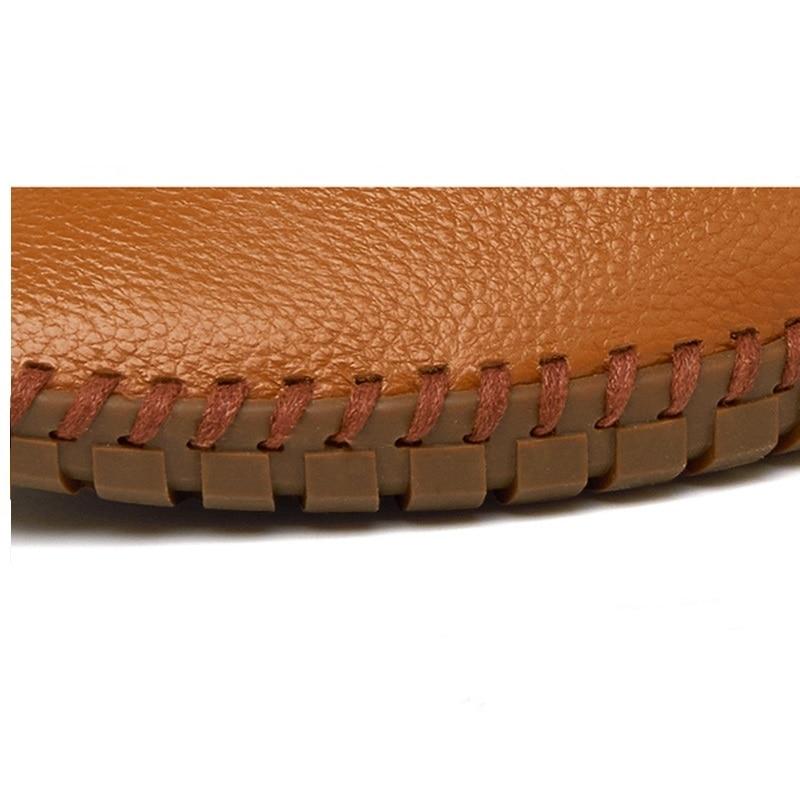 Photo Do Tamanho Clássicos Sapatos Dos Casuais Qualidade De photo Divisão Mocassins Couro Venda 48 Quente Color 38 Color Homens Flats Confortáveis xTfpp