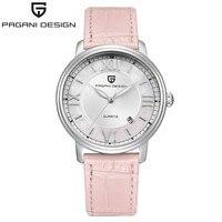 Pagani Desain Fashion Kasual Wanita Kuarsa Watch Automatic Date Pink Elegan Kasus Kulit Tahan Air Wanita Watch Relogio Feminino