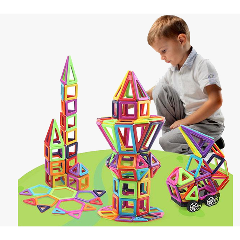 Mini Magnetic Designer Construction Set Model & Building Toy Plastic Magnetic Blocks Educational Toys For Kids Christmas Gift 62pcs set magnetic building block 3d blocks diy kids toys educational model building kits magnetic bricks toy
