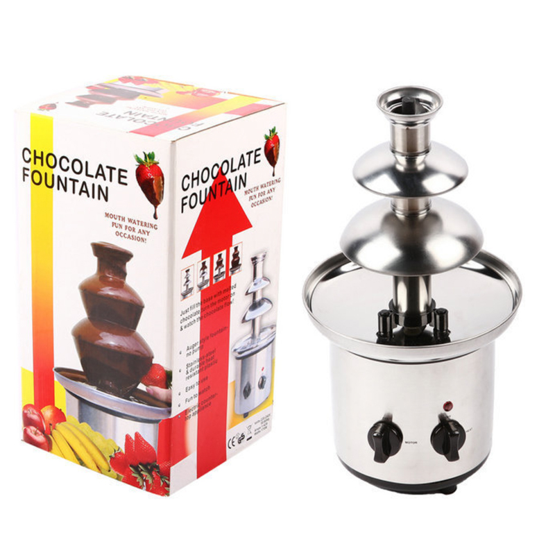 Stainless Steel Sweet Fountains Entertainer Home Stainless Steel Chocolate Fountains mini type 3 layers 220V/50HZ fast shipping food machine 6 layers chocolate fountains commercial chocolate waterfall machine with full stainless steel
