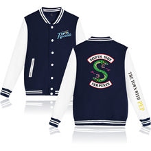 Waidx Southside Riverdale Serpents Baseball Snake Girl Jackets Sweatshirt Women Button Pocket Streetwear Drop Shipping(China)
