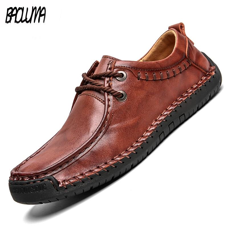 Homme en daim cuir noir tan casual marche lacets formateurs chaussures à plat