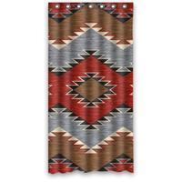 Diseño único Tamaño 36 (W) x72 (H) Pulgadas Suroeste Nativo Americano Personalizado Impermeable Cortina De La Ducha Decoración de baño de Poliéster