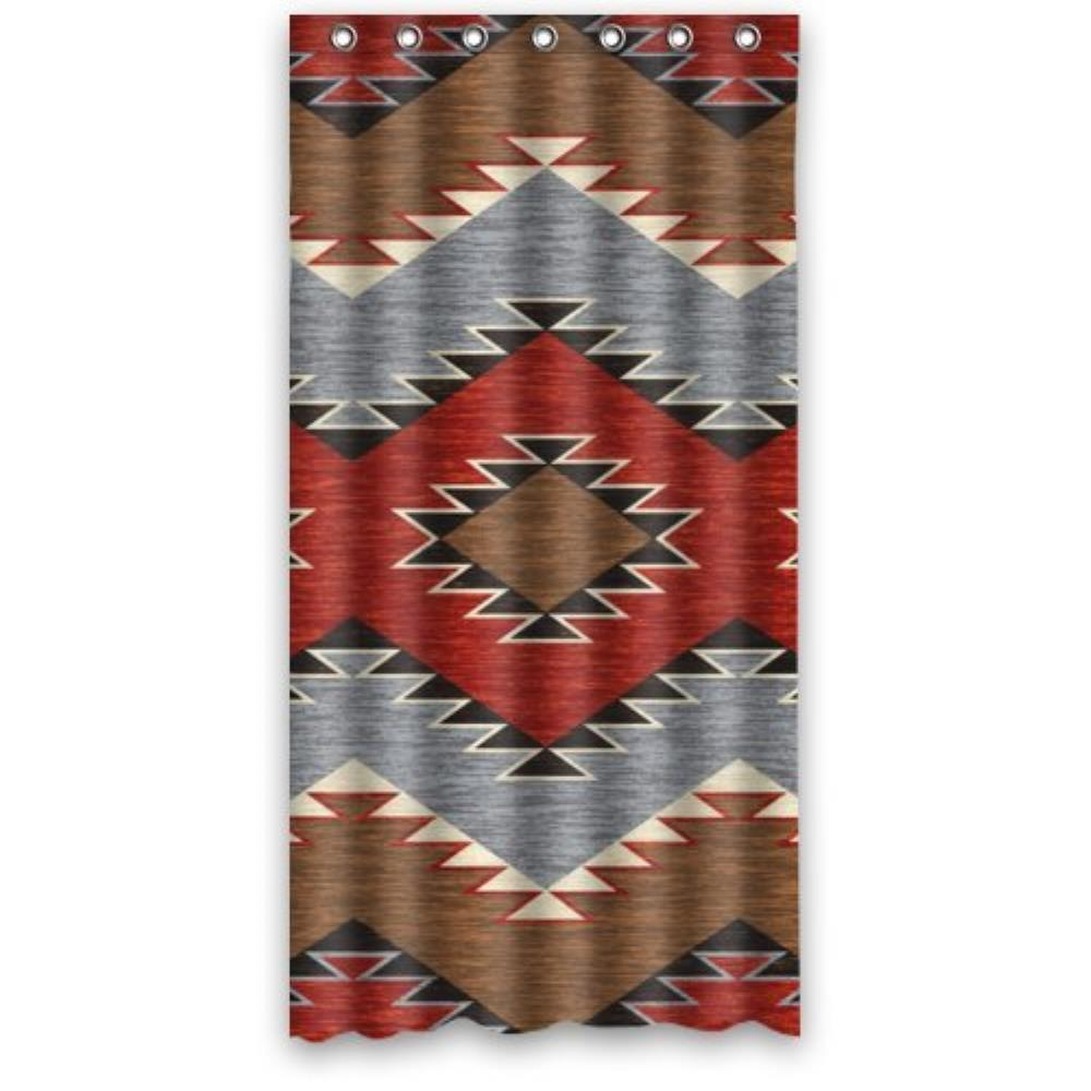 Unique Design Size 36(W)x72(H)-Inch Southwest Native American Waterproof Custom Shower Curtain Bathroom Decor Polyester