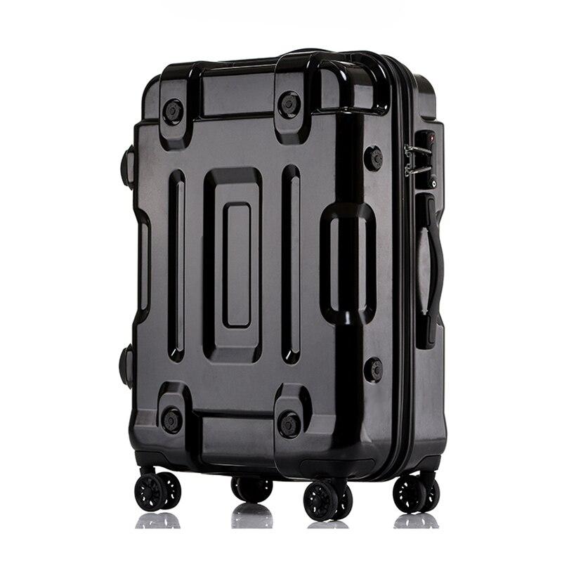 Analytisch Letrend Persönlichkeit Roll Gepäck Spinner 24/29 Zoll Hohe Kapazität Passwort Koffer Räder 20 Zoll Kabine Trolley Reisetasche