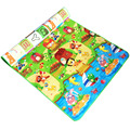 Baby Crawling Mat 0.5cm Thickness Play Carpet Soft Eva Foam Gym Game Rugs Children Double Side Playmat  Dinosaur Car Letter Farm