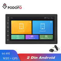 Podofo Android Car Radio Multimedia player 2 Din 7'' Touch Screen Autoradio Bluetooth FM WIFI AUX 2DIN GPS Audio Player Stereo